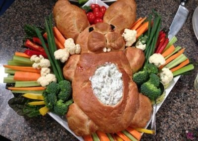 Bunny Bread and Vegetable Dip